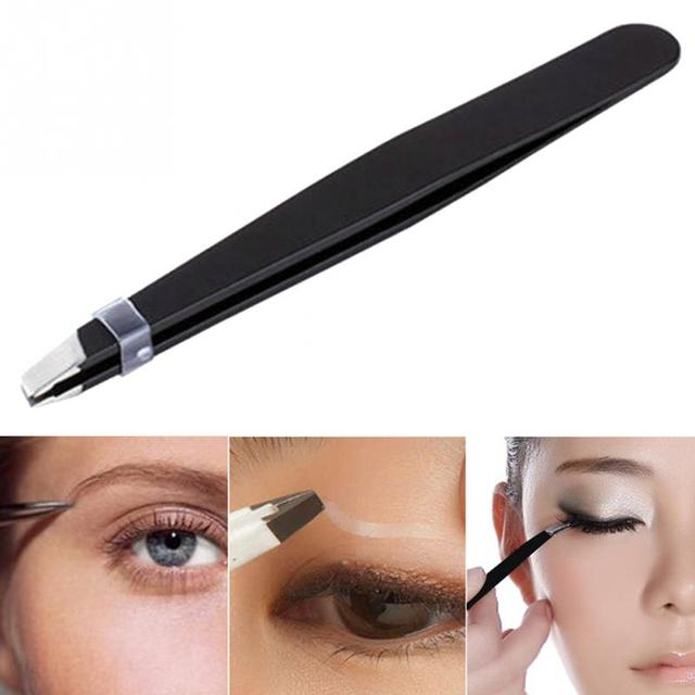 Women Lady Eyebrow Eye Brow Tweezers Hair Removal Stainless Steel