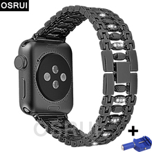 Stainless steel Strap For Apple watch band 42mm 38mm correas iwatch 44mm 40mm Link bracelet watchband wrist belt series 4 3 2 1 sport strap for apple watch band 38mm 42mm40mm 44mm watch strap bracelet for iwatch 4 3 2 1 stainless steel wrist band link belt