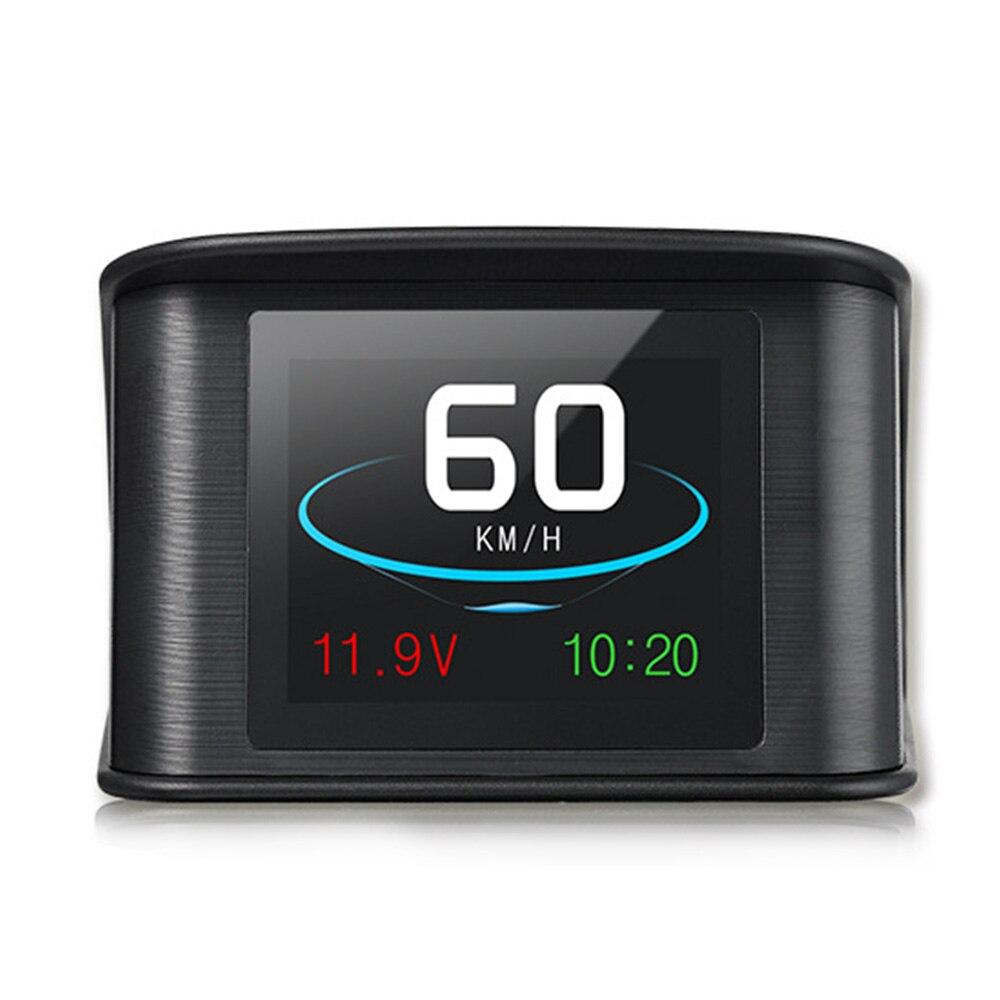 Otomobiller ve Motosikletler'ten Baş Üstü Ekran'de Evrensel HUD T600 Araba Head Up Ekran Dijital GPS Hız Göstergesi Akıllı Otomobil Hız Monitörü Göster Voltajı Sürüş Yönü Sıcak