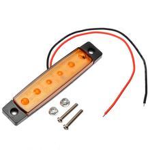 1pcs Amber 6 LED 12V 24V Car Truck Side Marker Light Waterproof Warming Lamp For Auto Trailer Boat Strobe Indicators