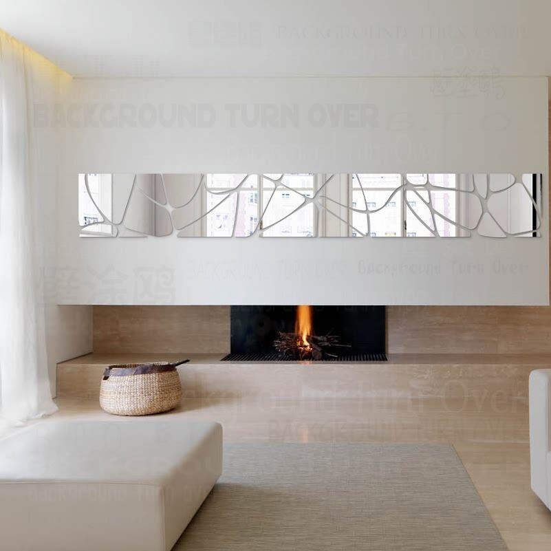 Creative Macadam motif 3d acrylique miroir décoratif Stickers muraux fond TV salon chambre porte chambre décoration R223
