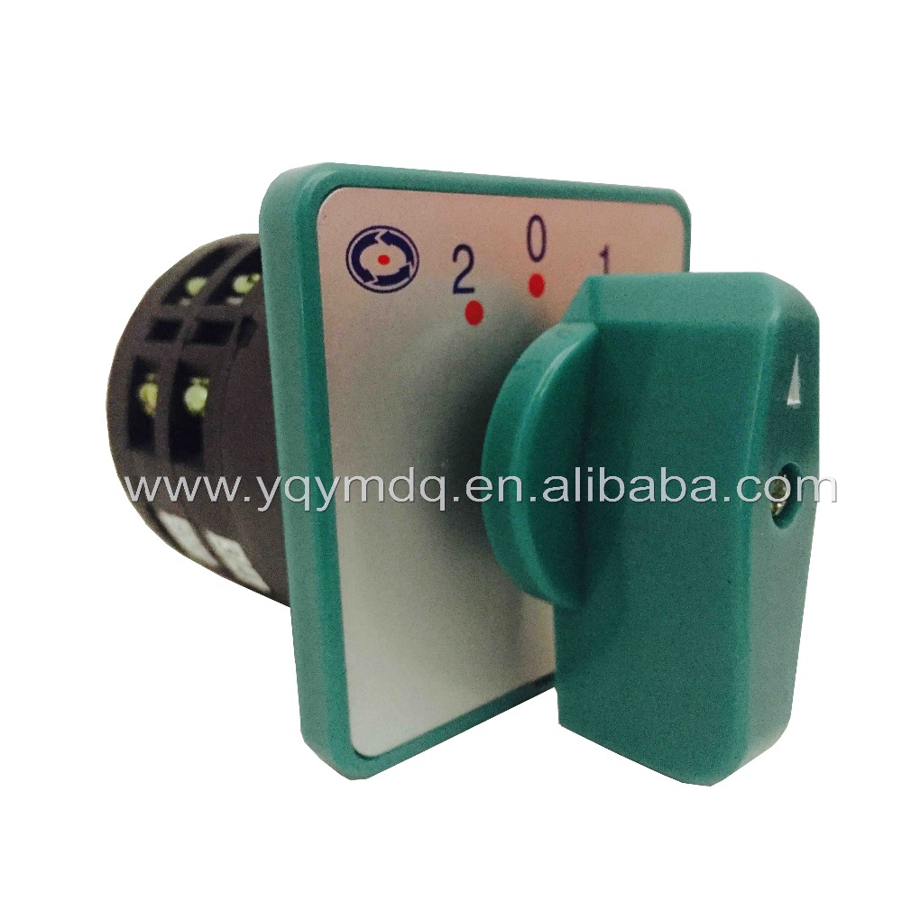 цена на Rotary switch 3 positions LW6-2/B066 green changeover cam universal switch 380V 5A 2 pole 12 terminals sliver contacts