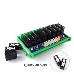 Oryginalna jakość 8 sposób moduł przekaźnikowy przekaźnika Omron  zestaw pojedynczy 24 V jeden otwarty i jeden zamknięty szyna instalacji Przekaźniki Majsterkowanie -