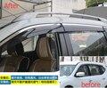 Accesorios! ventana Toldos Viseras Deflector de Viento Lluvia Visera Guardia Vent 4 Unids/set Para Nissan X-trail 2014/Rogue 2014