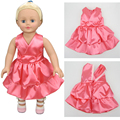 "Doll Accessories Pink dress skirt for 18""45cm American girl doll and our generation doll"