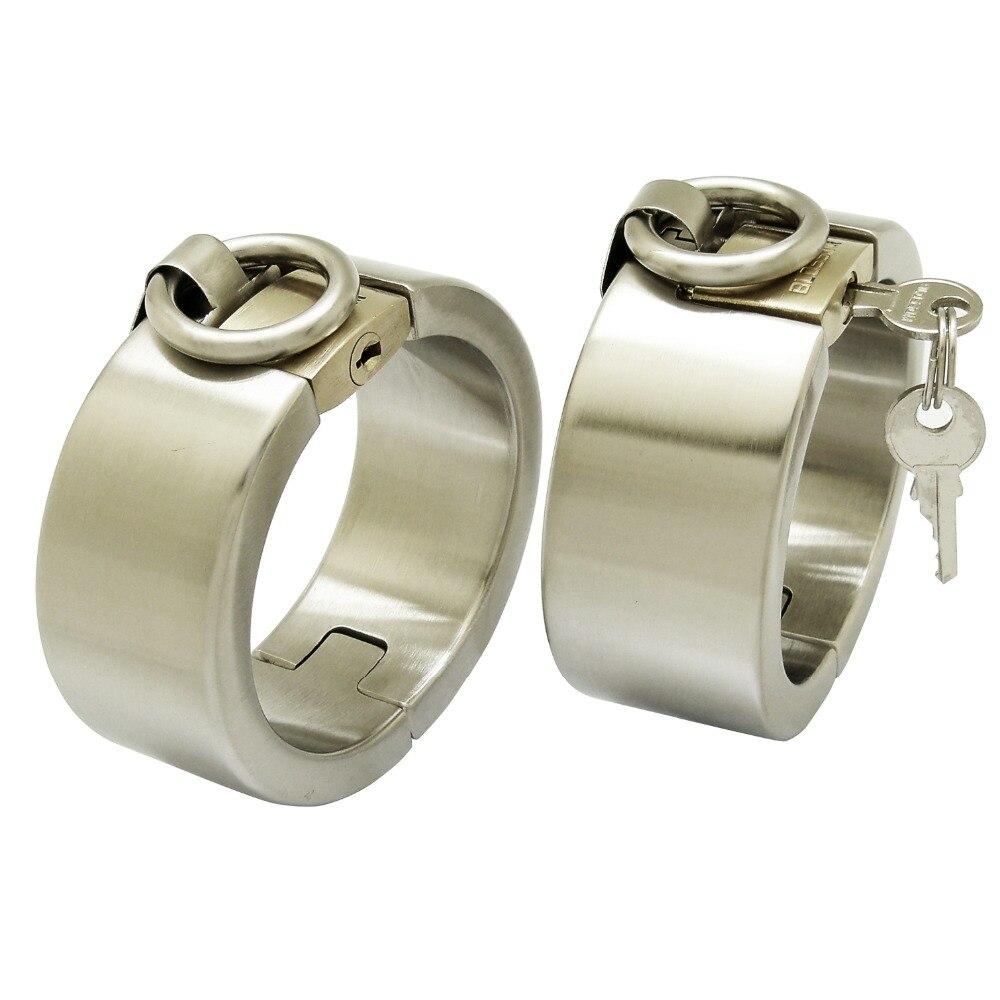 Стали нержавеющая сталь наручные манжеты с замочком браслет модные браслеты Lock