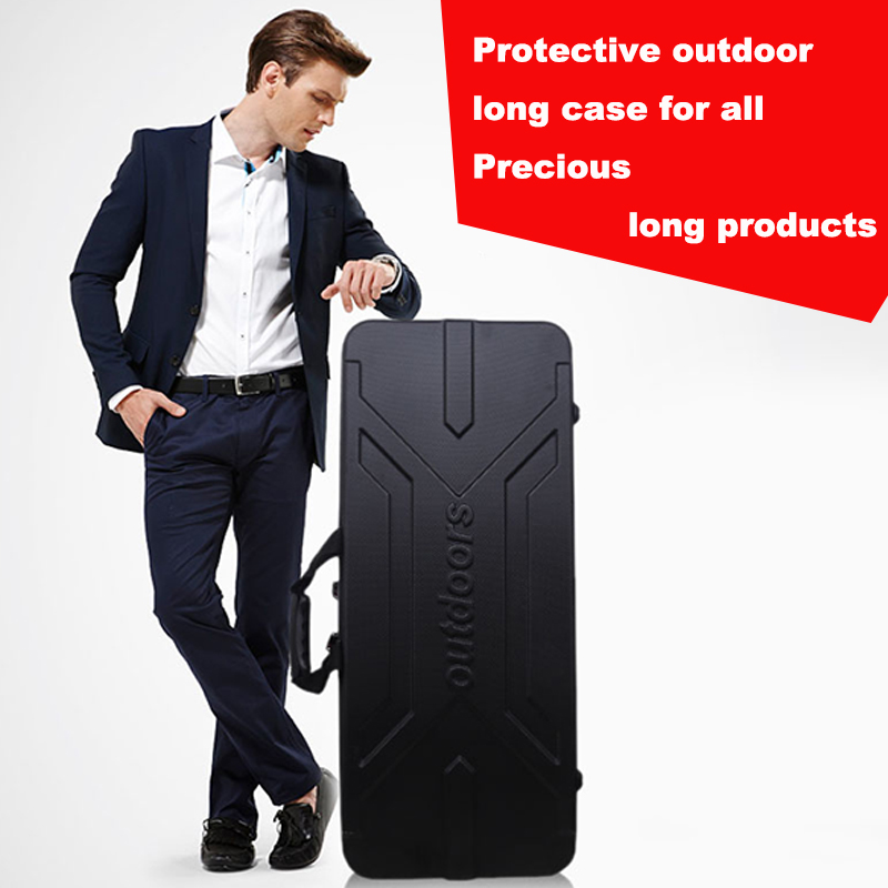 high quality protective long case outdoors luggage Fishing bag tactical box plastic toolbox safety box suitcase with foam lining