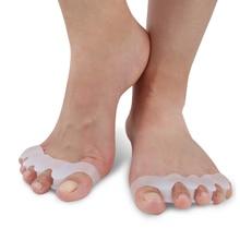 2020 1 Pair Silicone Foot Care Gel Bunion Protector Toe Separators Straightener Spreader Correctors Hallux Valgus Correction
