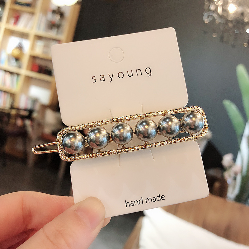 Women Pearl Hair Clip Snap Hair Barrette Stick Hairpin Hair Styling Accessories For Women Girls Dropshipping New Arrive Hot in Hair Jewelry from Jewelry Accessories