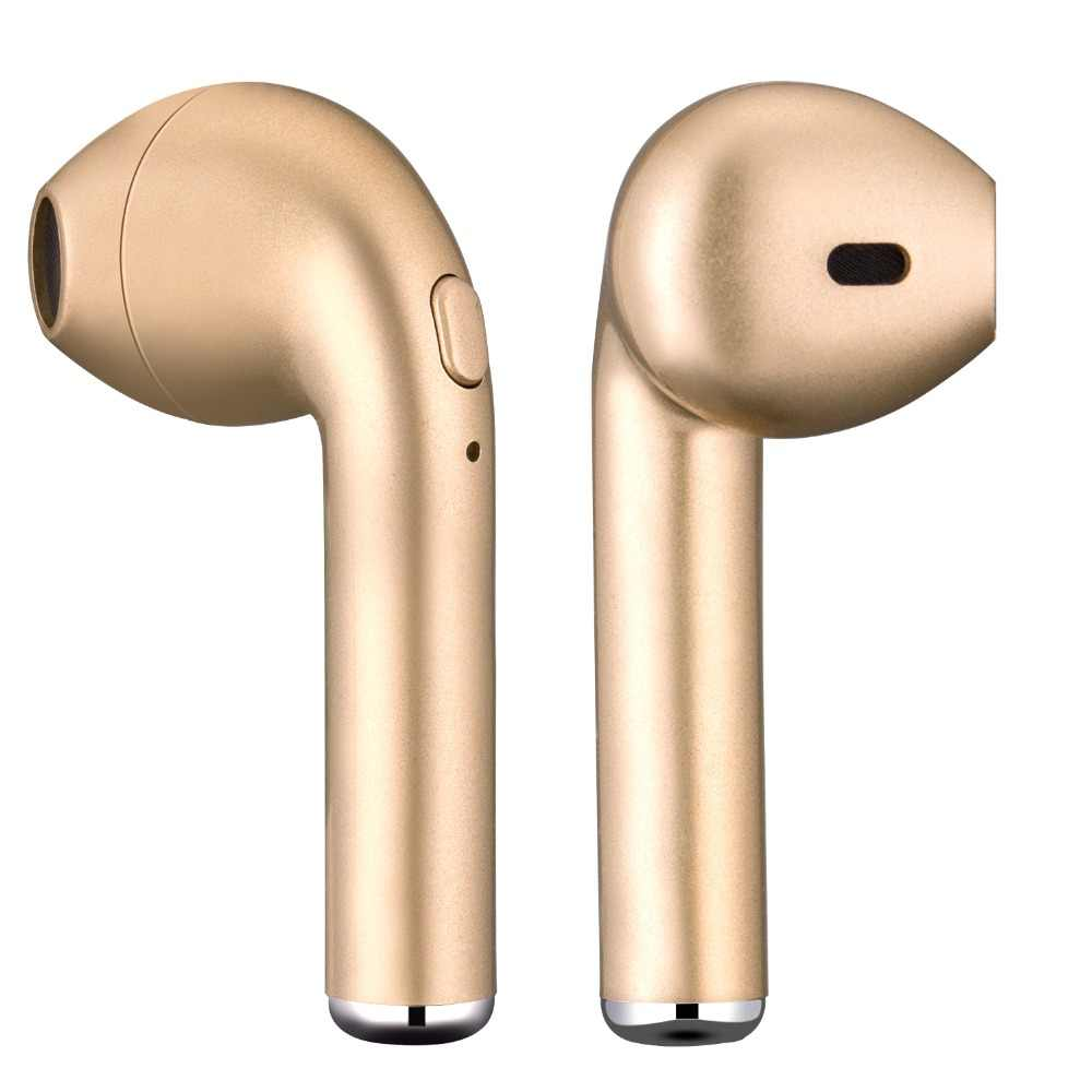 I7 i7s tws سماعة لاسلكية تعمل بالبلوتوث سماعة الأذن سماعة سماعة مع مايكروفون مع كابلات للهواتف أبل آيفون شاومي هواوي