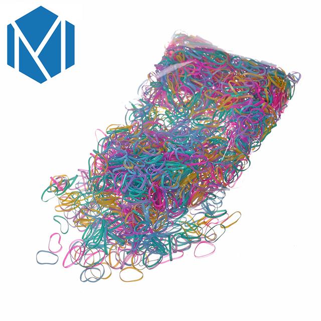 2000PCS Disposable Colorful Elastic Hair Band