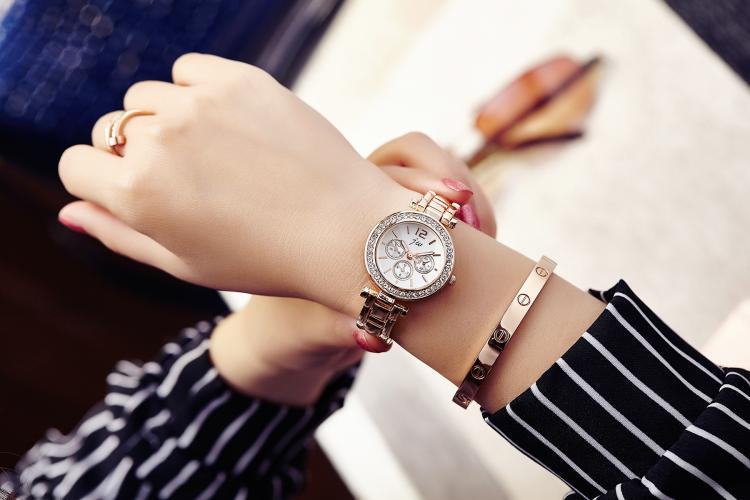 High Quality Quartz Watches Women Luxury Brand 2019 Famous Silver Stainless Steel Wristwatches For Women Casual Dress Watch xfcs in Women 39 s Watches from Watches