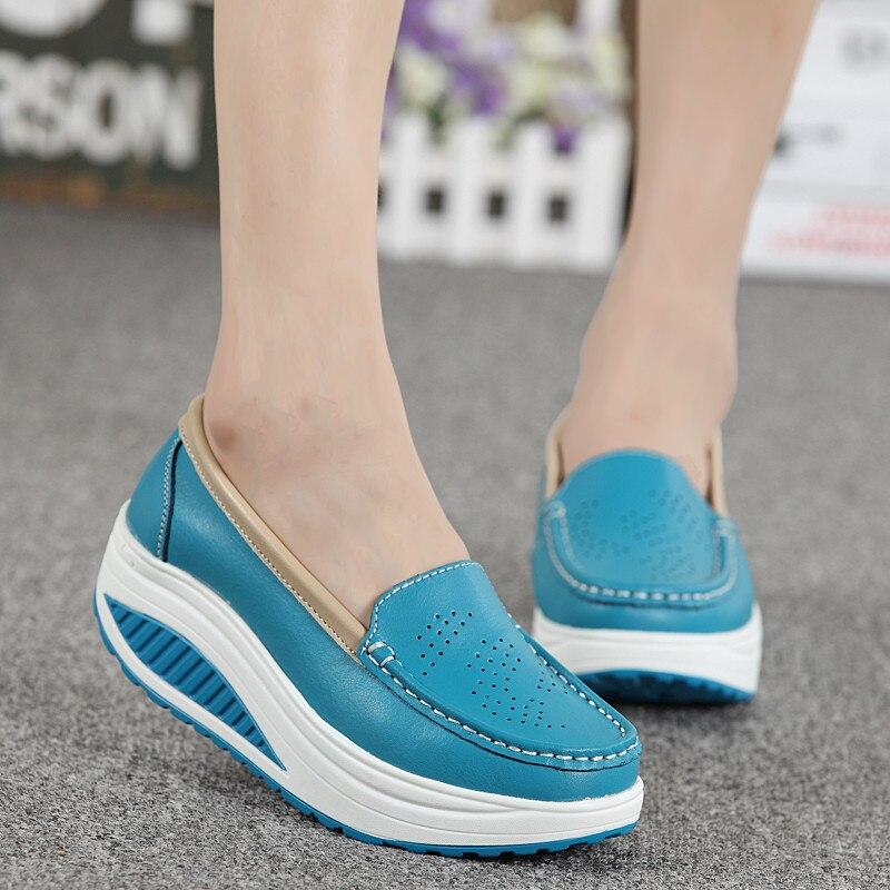 Women s genuine leather shoes Adult Cow Split Height Increasing Women s Genuine Leather Shoes Lady