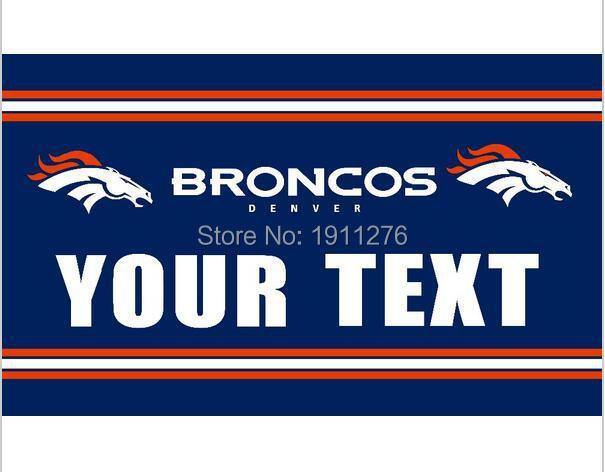 ⊰3x5ft Denver Broncos il testo bandiera 90x150 cm poliestere banner ... a9356b6f422