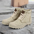 Autumn And Winter High Top Canvas Shoes Male Classic Style Desert Boots With Plush Mens Fashion Wearable Denim Boots