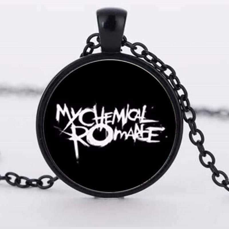 Vòng Cổ Pha Lê mới Hình Ảnh Rock Band My Chemical Romance kẽm hợp kim thủy tinh mặt dây chuyền dây chuyền dây chuyền cho phụ nữ