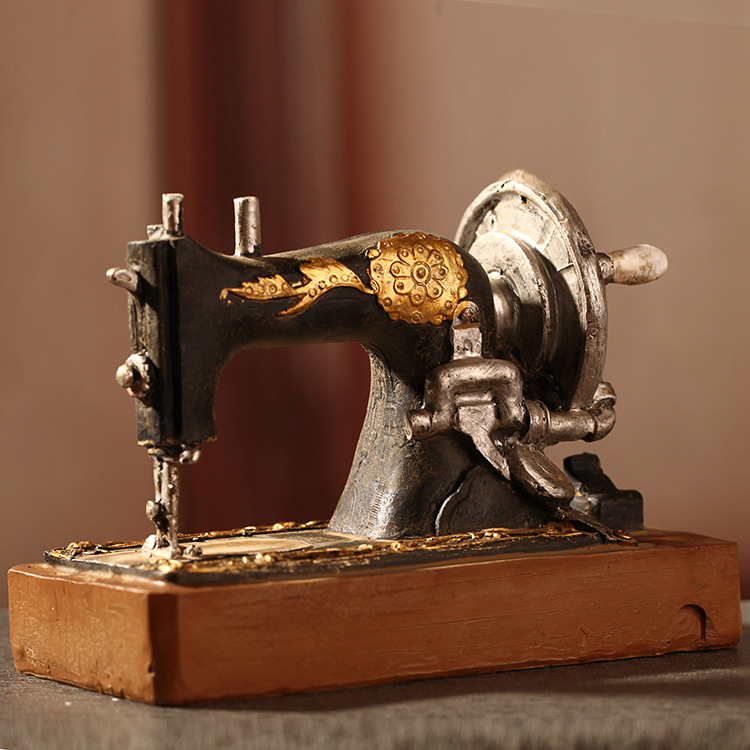 Vintage Home Decor Online Stores: American Country Style Old Sewing Machine Resin Craft