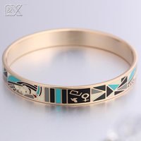 R X New Promotional Top Quality 1 0CM Width Rose Enamel Series Jewelry Bangles 1 Pcs