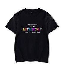 LUCKYFRIDAYF Travis Scotts ASTROWORLD Kpop Fashion TShirt Summer Short Sleeve Popular Hip Hop Women/Men Cotton T shirt