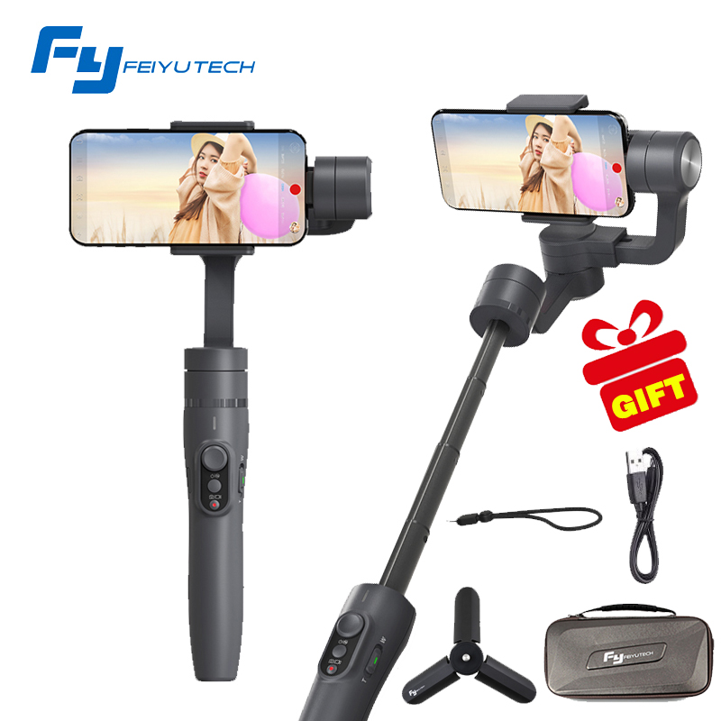 Feiyutech FY Vimble 2 Gimbal Handheld 3 eje extender estabilizador para iphone 6/7 X Teléfono para samsung smartphone PK Zhiyun smooth Q