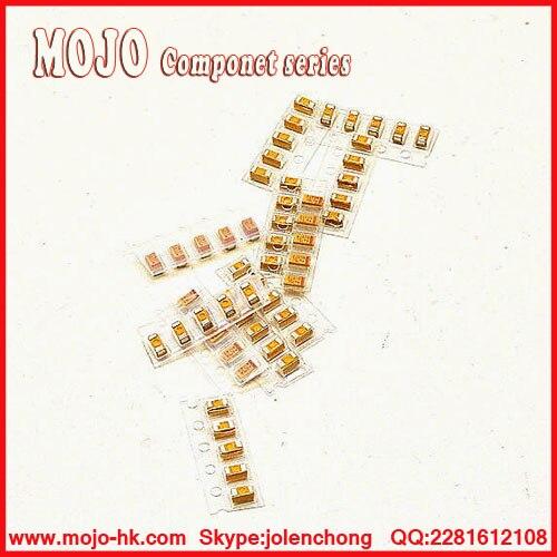 Free Shipping ! 0805 & 1206 SMD Tantalum Capacitor Assorted Kit, Sample bag,P Type&A Type,12ValuesX5PCS=60PCS