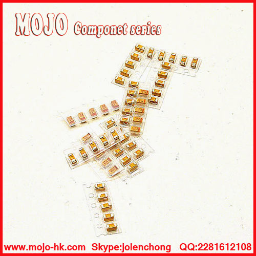 Free Shipping ! 0805 & 1206 SMD Tantalum Capacitor Assorted Kit, Sample bag,P Type&A Type,12ValuesX5PCS=60PCS image