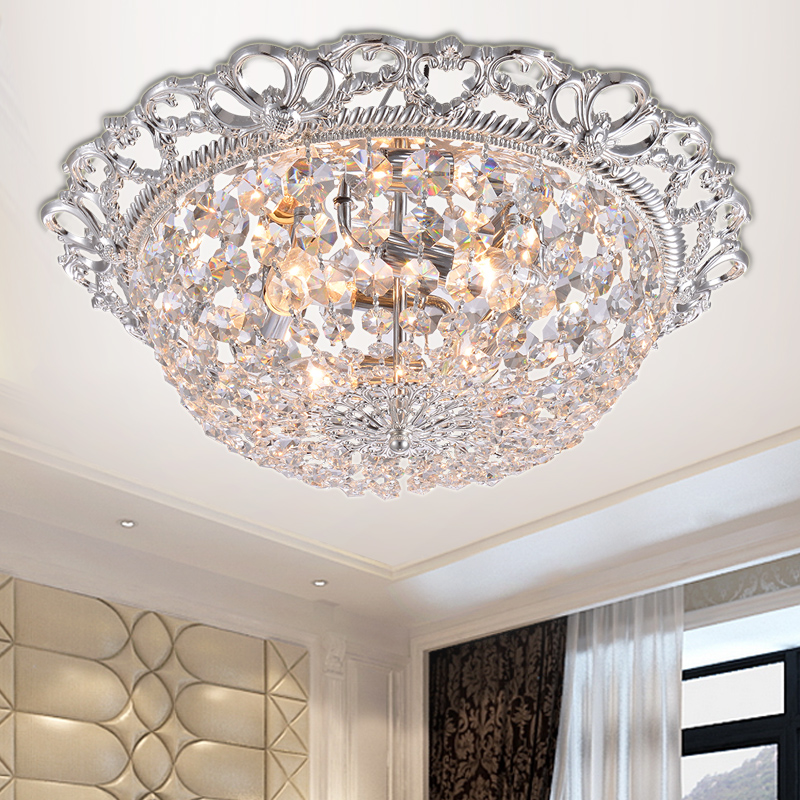 Luxury European Ceiling For Modern Home: Modern European LED Crystal Ceiling Lamp Luxury Circular