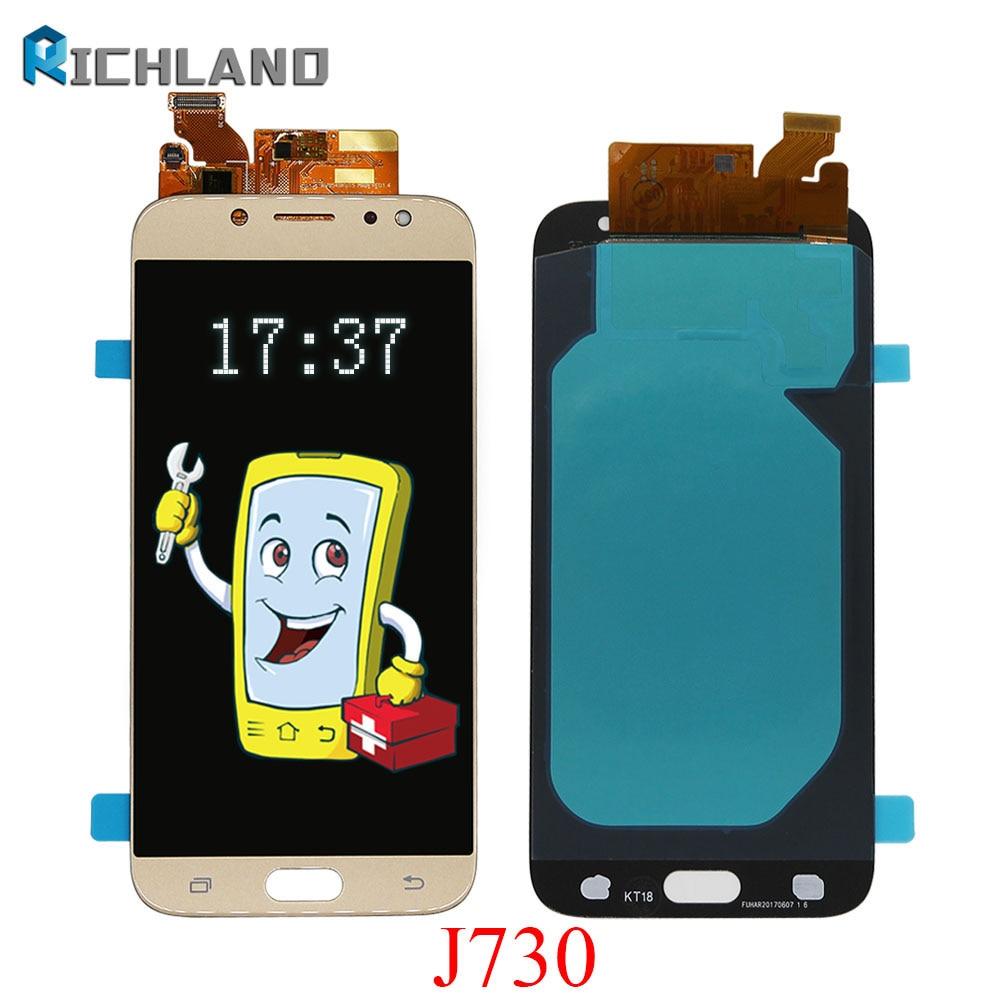5.5 ''D'origine AMOLED Affichage pour SAMSUNG Galaxy J7 Pro J730 LCD Pour SAMSUNG J7 2017 Affichage Écran Tactile Digitizer j730F