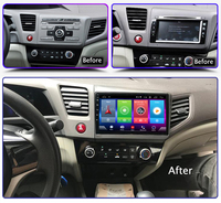 Smart Full touch Android 8.1 car gps navigation player for Honda Civic 2012 2015 stereo radio bluetooth multimedia DSP head unit
