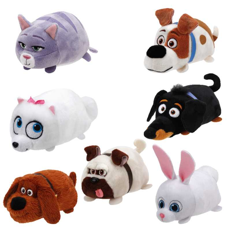 Ty Beanie Boos plush toy the Secret Life of Pets Kid's Party Doll Stuffed rabbit dog toys Animals Girl boy child Birthday Gifts