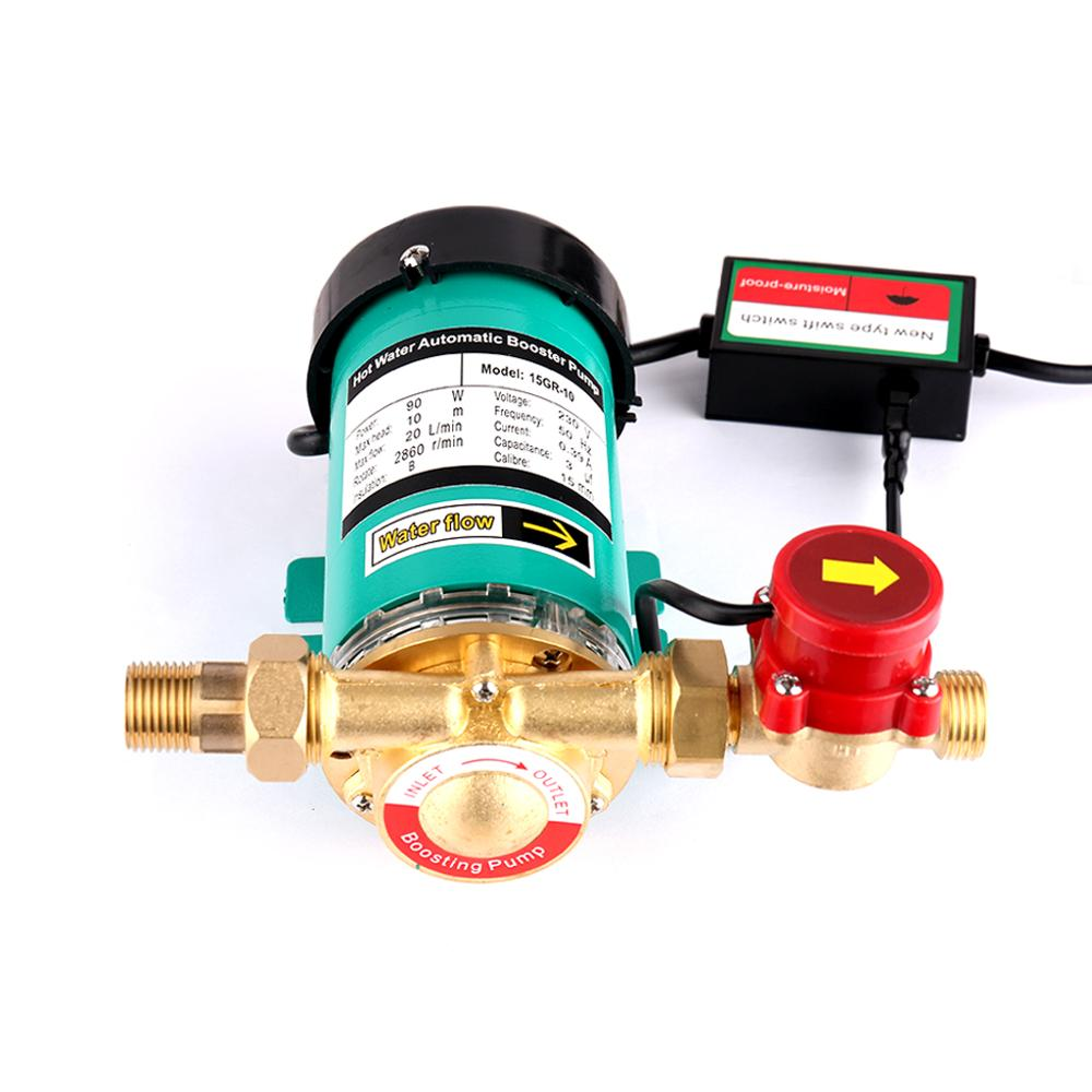 SHYLIYU 230V Household High Pressure Heating Hot Water Automatic Circulating Water Pump House Shower Pipeline Booster Heat Pump in Pumps from Home Improvement