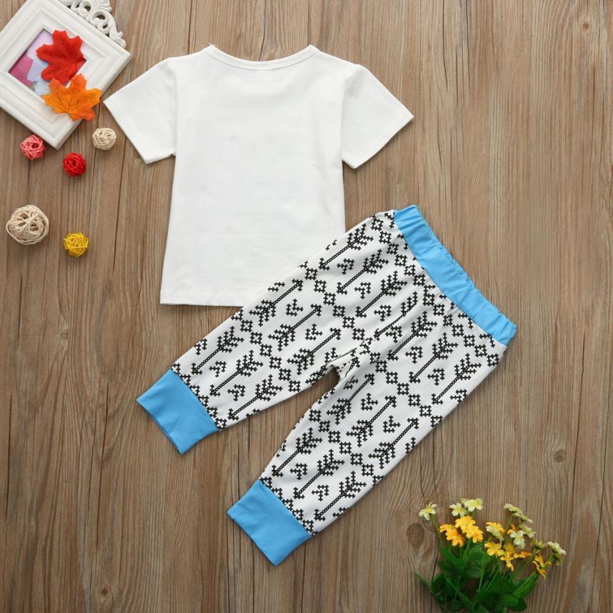 Telotuny 2018 малыш ковылять для маленьких мальчиков большой брат футболка Топы Корректирующие + Брюки для девочек семейная одежда комплект одеж...