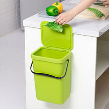 Waste Bin Office Kitchen Bathroom Dustbin Space Saving For Home Wall Mounted Trash Can Dual-use Storage Box Plastic Organizer(China)