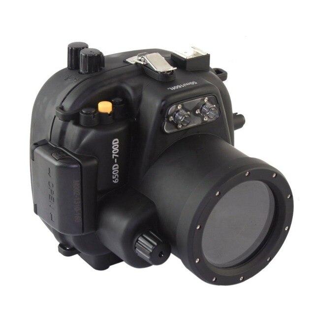 Mcoplus 40 м 135ft Водонепроницаемый Дайвинг Сумка Чехол для Canon 700D 650D 18-55 мм Объектив