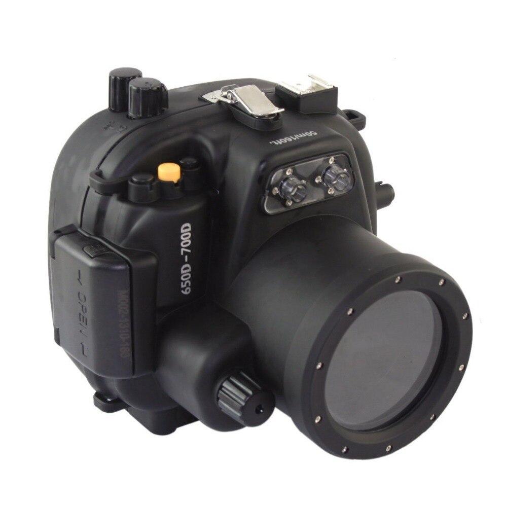 Mcoplus 40m 135ft Waterproof Diving Housing Bag Case for Canon 700D 650D 18-55mm Lens meikon underwater diving camera waterproof cover case for canon 650d 18 55mm lens black