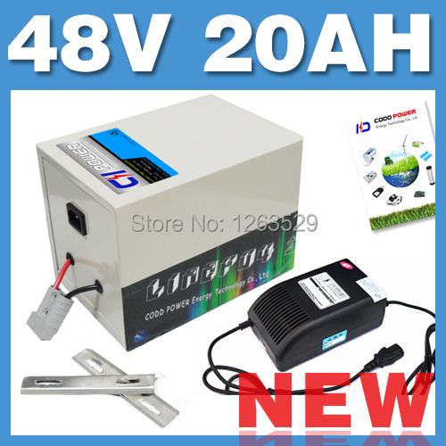 48V 20AH LiFePO4 Battery Rear rack BOX Lithium Battery Electric Scooter Pack E bike Free Shipping 20164820 002