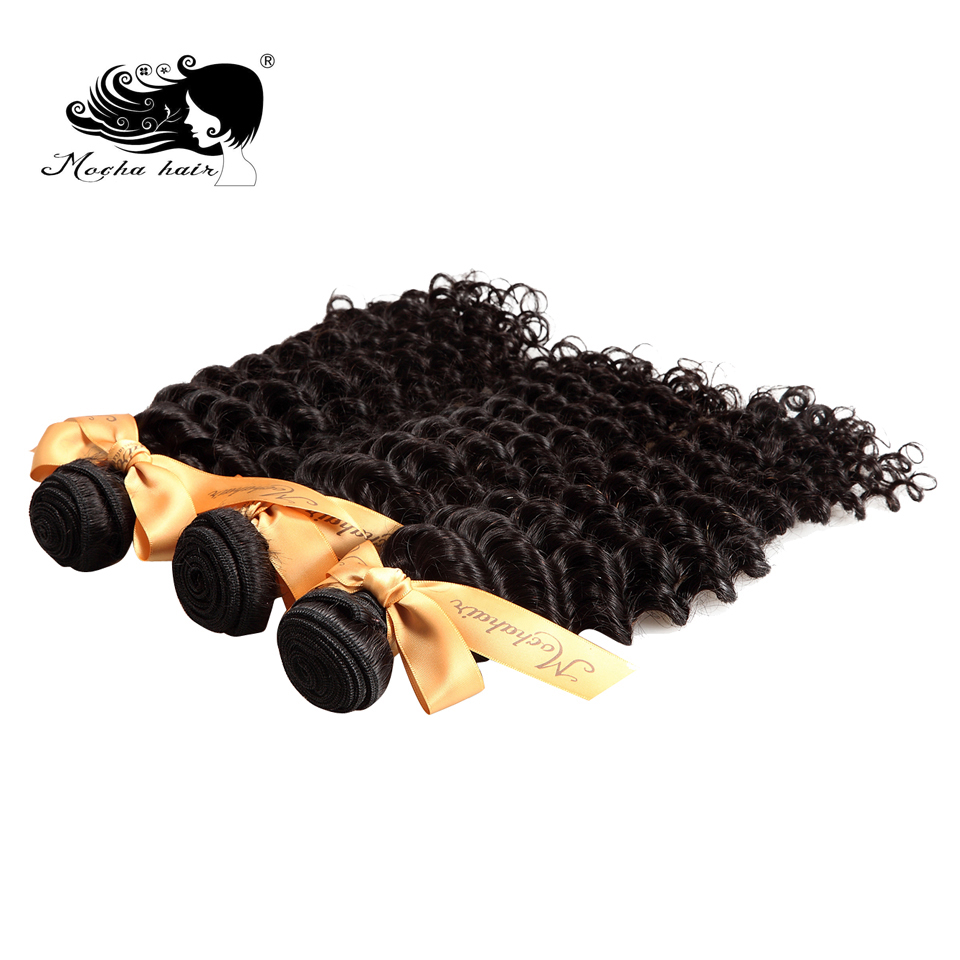 Mocha Hair 10A Brazilian Curly Hair 100 Human Hair Weave 3 Bundles Natural Color Remy Hair