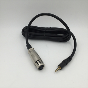 "Image 5 - GEVO שקע 3Pin XLR נקבה ל3. 3.5 מ""מ כבל מיקרופון הקבל מיקרופון דינמי כבל חוט כבל אודיו למחשב"