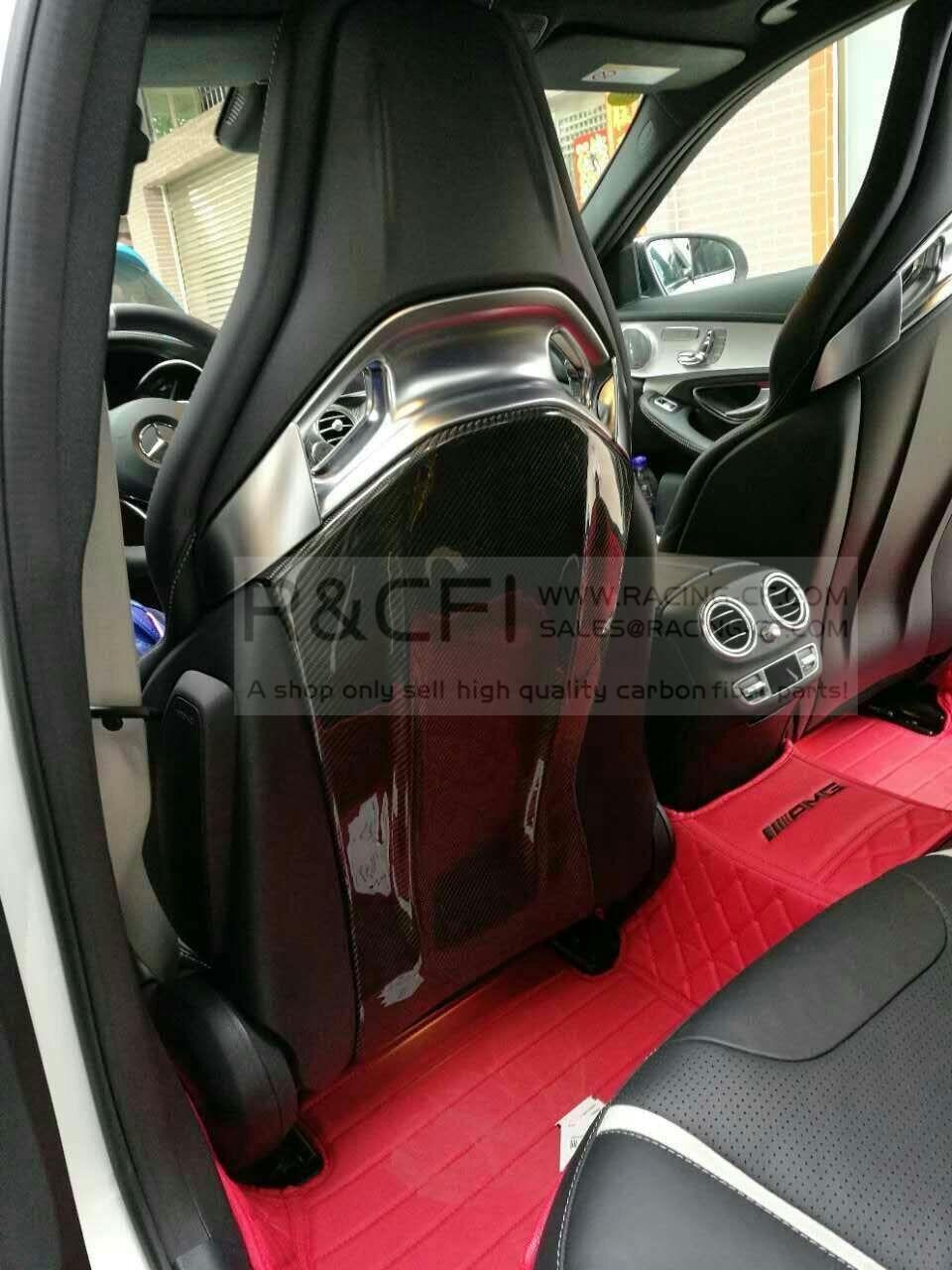DRY Carbon Fiber Seatback Shell Covers//4pcs/set For W205 C63 AMG CLA45 GLA45