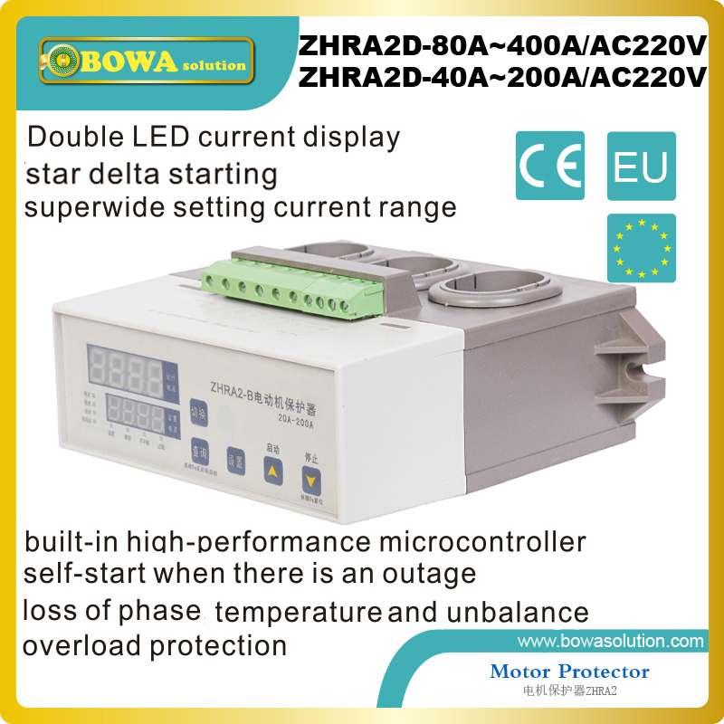 400A star delta starting Motor Protector with double LED current display and superwide setting current range agaist larger motor400A star delta starting Motor Protector with double LED current display and superwide setting current range agaist larger motor