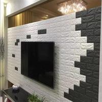 PE Foam 3D Stone Brick Panel Wall Sticker 39*70cm Home Decor Living Room Wallpaper For Kids Rooms Self-Adhesive DIY Art Mural