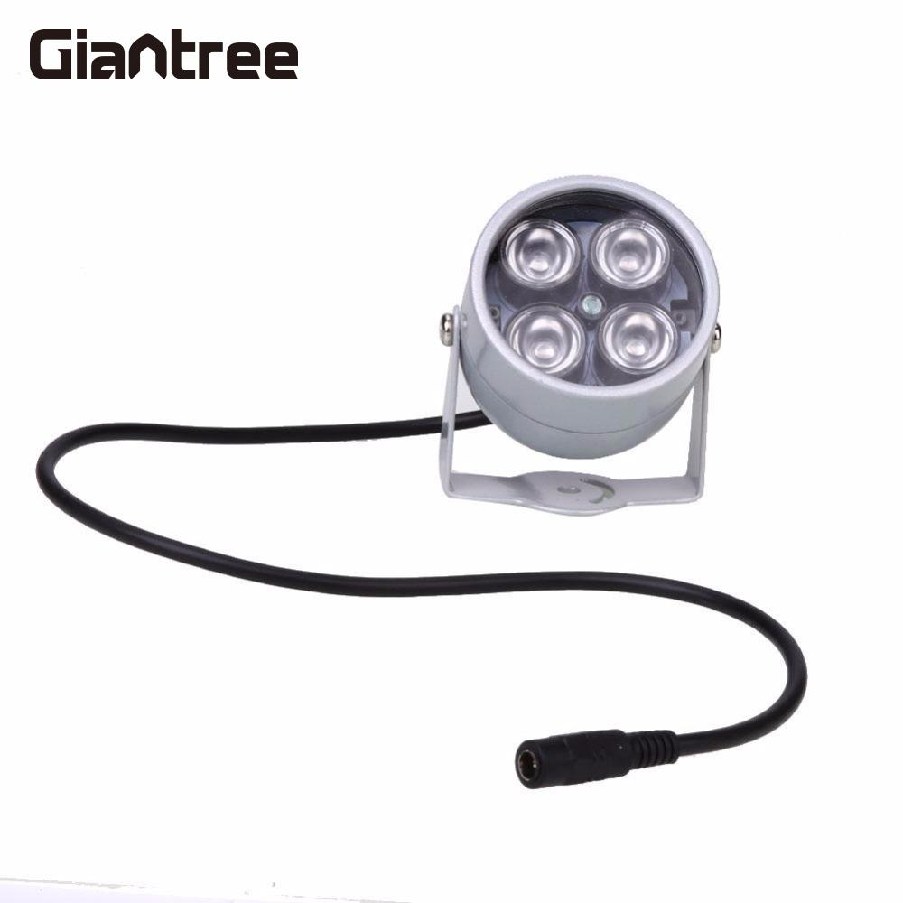 giantree 4 IR LED Infrared Illuminator Light IR Night Vision Metal White Dome Waterproof For Camera Fill Lighting Night Vision 4 in 1 ir high speed dome camera ahd tvi cvi cvbs 1080p output ir night vision 150m ptz dome camera with wiper