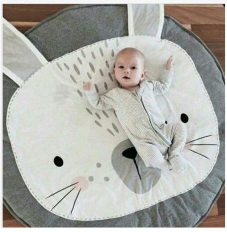 Kids Round Carpet Play Game Mats Cotton Rugs Mat Lion Crawling Blanket Floor Carpet for Kids Room Decoration Baby Gifts 95CM