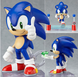 Dowin 10CM Sonic #214 the Hedgehog Vivid Nendoroid Series Boxed or not box PVC Action Figure Collection Model for children Toy