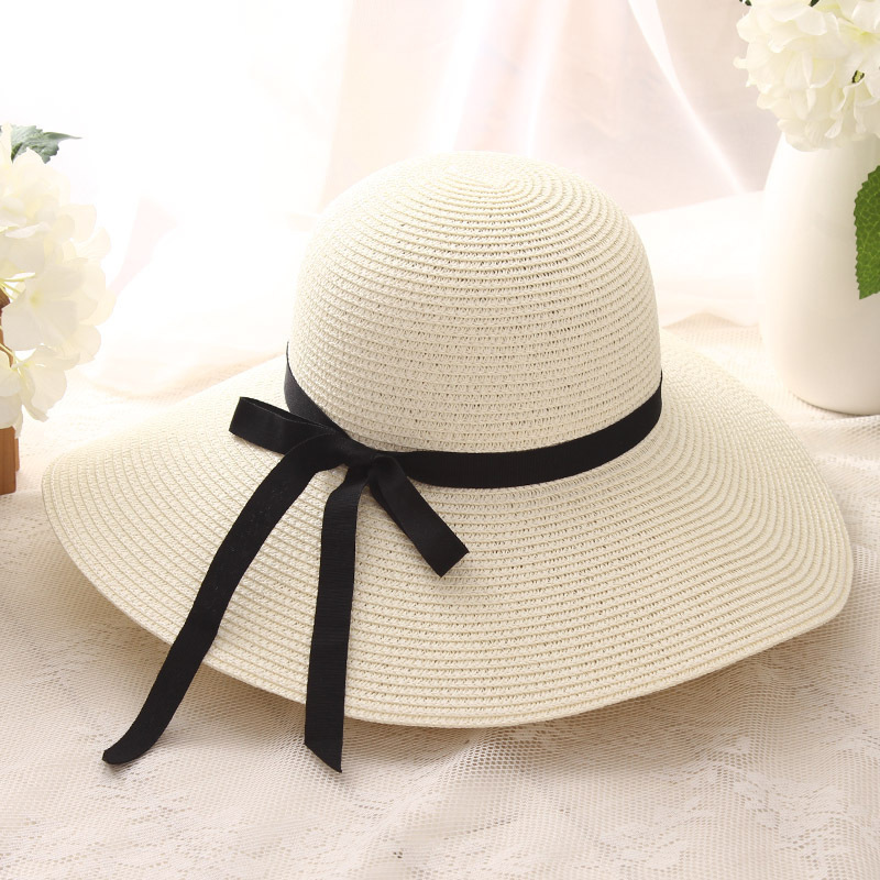 women big wide brim beach hat sun hat summer straw hat foldable sun block UV protection panama hat bone chapeu feminino