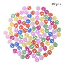 100pcs 13mm Dot Round 2 Holes Wooden Buttons Sewing Scrapbooking DIY Crafts Stitching Accessories Ornaments Tools