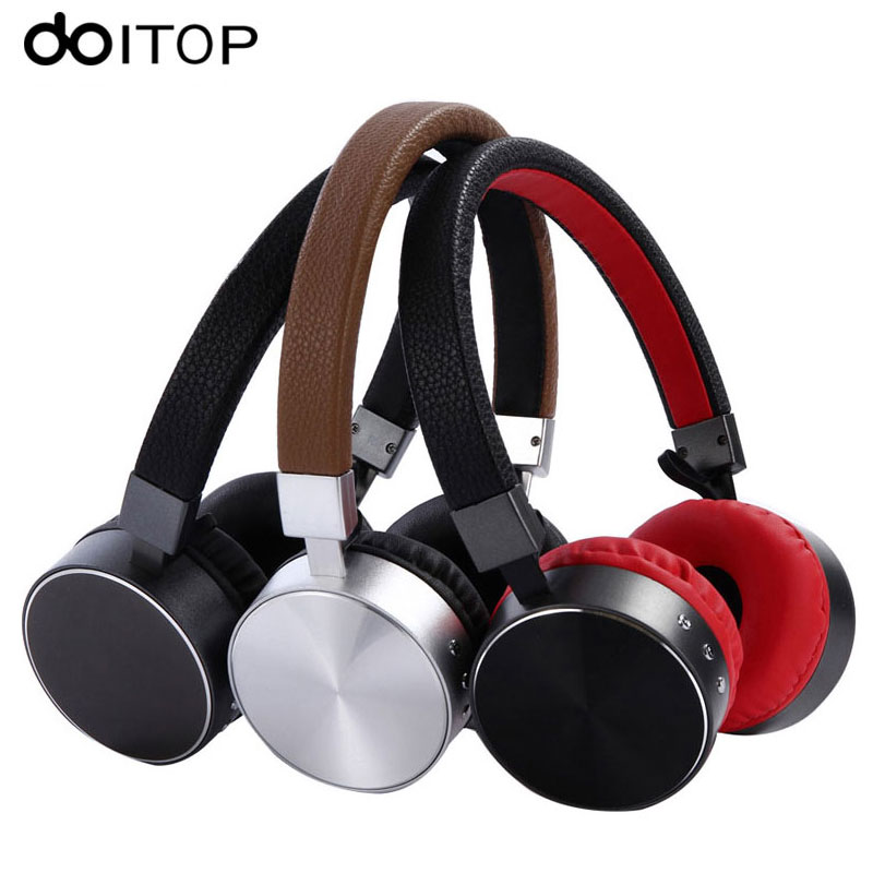 DOITOP Bluetooth 4.1 Headphone Metal Headset Wireless Stereo Music <font><b>Earphone</b></font> with <font><b>Mic</b></font> for Smartphone Tablet <font><b>MP3</b></font> Media Play