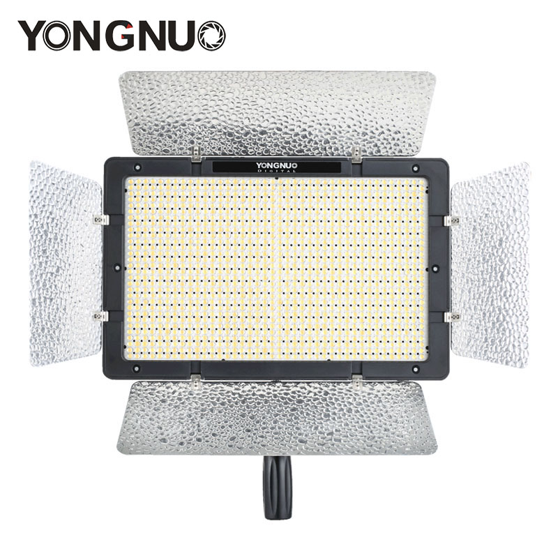 Yongnuo YN1200 Pro LED Video Light with 3200K to 5500K Adjustable Color Temprature for Canon Nikon Pentax SLR Camera Camcorders led c200rs pro flapjack led c 200rs bicolor edge light 3200k 5600k camera video light for canon nikon samsung