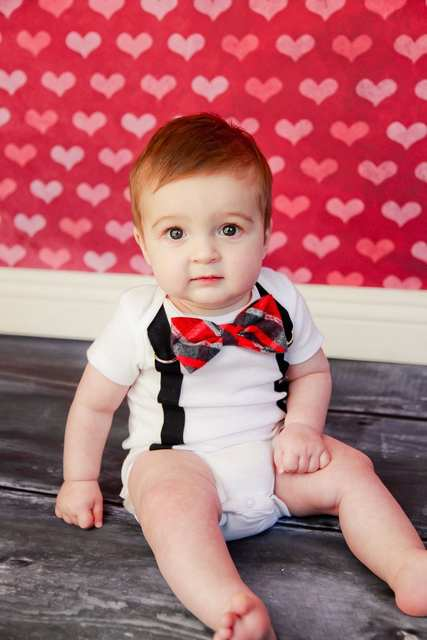 7f73ac9a4eee Online Shop New Cute Baby Boy Clothing Sets Bow Tie Bodysuit ...