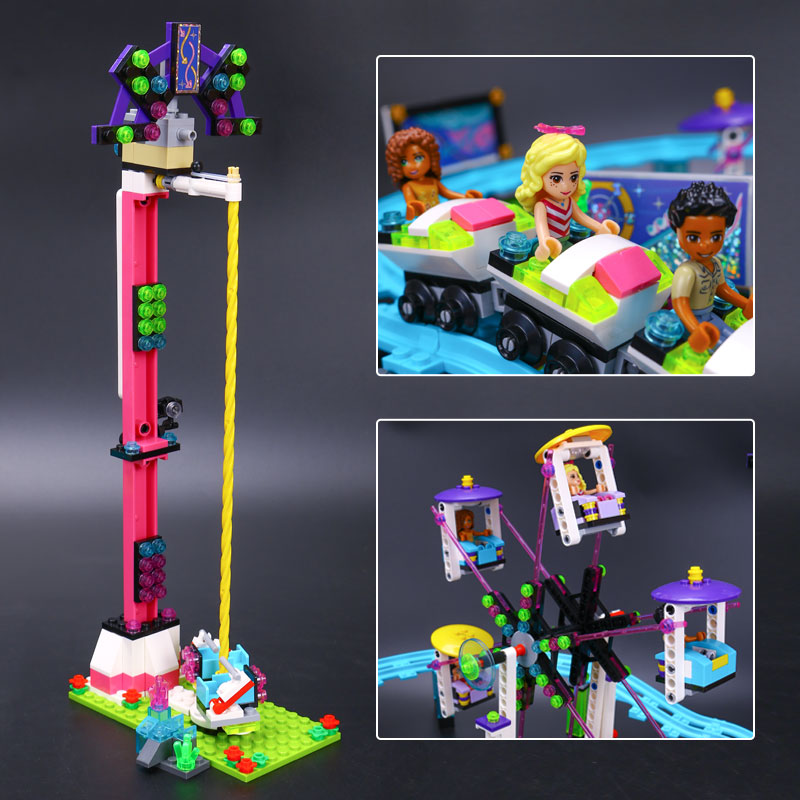 Image 5 - Bricks Compatible Legoingly Friends Amusement Park Blocks Roller Coaster Figure Model Toys Hobbie Children Girls-in Blocks from Toys & Hobbies